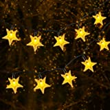 Solar String Light Outdoor, OxyLED 59ft 110 LED Christmas Star String Light Solar and USB Powered, 8 Modes Decorative Twinkle