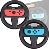 Orzly Nintendo Switch Steering Wheel, Twin Pack, for Mario Kart 8 Deluxe Nintendo Switch, Mariokart Switch Steering Wheel (Jo