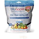 Bluapple One Year Refill Kit with Activated Carbon Keeps Produce Fresher Longer AND Absorbs Odors For Fresh Fruits and Vegeta