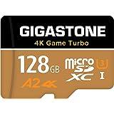 【5年データ回復保証】【Nintendo Switch対応】 Gigastone Micro SD Card 128GB マイクロSDカード 4K Game Turbo A2規格 100/50 MB/s 4K撮影 SDXC UHS-I A2 4K C