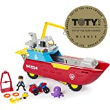 Nickelodeon 6037845 Paw Patrol - Sea Patrol ? Sea Patroller Transforming Vehicle with Lights and Sounds