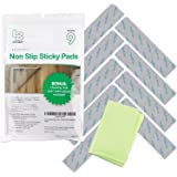 Non Slip Rug Gripper Pads: 9 Reusable Corner Carpet Tape Grippers - Adhesive No Skid Anti Slip Pad Hardwood Laminate Floors -