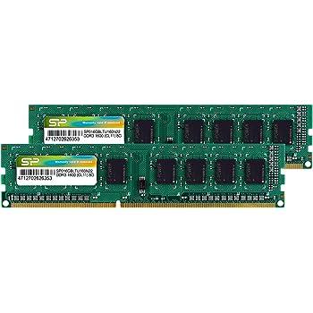 シリコンパワー デスクトップPC用メモリ DDR3 1600 PC3-12800 8GB×2枚 240Pin Mac 対応 永久保証 SP016GBLTU160N22