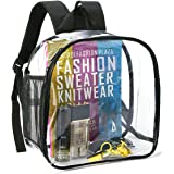 Clear Backpack Stadium Approved, Clear Backpack Small for Women, Waterproof and Lightweight Heavy Duty Transparent Backpack f