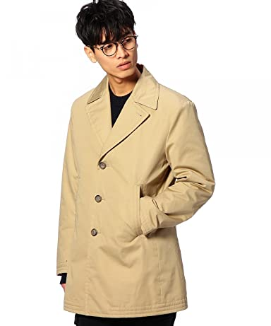 Cotton Polyester Single Breasted Coat 1125-133-5315: Beige