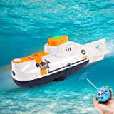 RC Submarine Remote Control Submarine Boat Rechargeable RC Boat Electronic Waterproof Diving Toy for Child Gift Swimming Pool