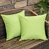 MIULEE Pack of 2 Decorative Outdoor Waterproof Pillow Cover Square Garden Cushion Case PU Coating Throw Pillow Cover Shell fo