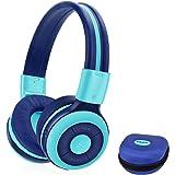 SIMOLIO Bluetooth Kids Headphones with 75dB,85dB,94dB Volume Limit,With Mic Kids Safe Wireless Headphone, Bluetooth Headphone