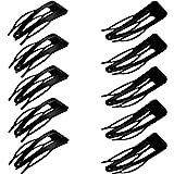 24 Pieces Double Grip Black Hair Clips Metal Snap Hair Clips Hair Barrettes for Hair Making, Salon Supplies