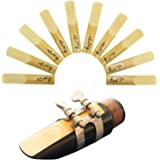 Suewio Bb Clarinet Traditional Reeds, Strength 2.5, 10 Pack with Portable Case