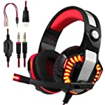 BlueFire Professional Stereo Gaming Headset for PS4, Xbox One Headphones with Mic and LED Lights for Playstation 4, Xbox...