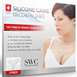 Silicone Wrinkle Pad - set of 2 pack, Reusable Silicon Chest Pads Wrinkle Prevention, Wrinkle Derma Pads