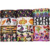 """Niangzisewing 12yards Mix Lots 2"""" (50mm) Wide Halloween Ribbon Appliques Craft Party Decoration Pumpkin Ghost Skull Wizard Ba"""