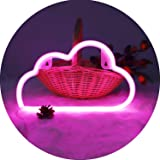 Hopolon Pink Cloud Neon Signs, LED Neon Light for Party Supplies, Girls Room Decoration Accessory, Table Decoration, Children