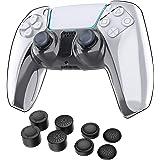 WD&CD PS5 コントローラー カバー ケース PS5 透明PCカバー 保護ケース 超薄PCカバー プレイステーション5 対応 Playstation5 コントローラー用 クリアカバー 耐衝撃 簡単装着 防塵 透明 アシストキャップ 8枚付き