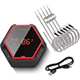Inkbird Wireless Bluetooth BBQ Thermometer IBT-6XS, 6 Probes,Rechargeable Battery, Digital Cooking Grill Thermometer For Smok