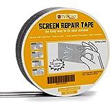 Screen Repair Tape - 20ft x 2in Door Window Screen Patch Repair Kit, Fiberglass Covering Mesh Repair Tape Strong Adhesive & W
