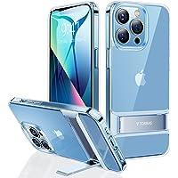 TORRAS 全透明 iPhone 13 Pro Max 用ケース 6.7インチ スタンド付き 3WAY置き対応 角度調…