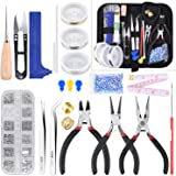 KINCREA Jewelry Making Tools with Jewelry Making Supplies Kit, Jewelry Wires and Jewelry Findings for Jewelry Repair and Bead