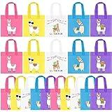 20Pcs Llama Party Favor Bags, Non-Woven Mexican Fiesta Goodie Treat Bags Llama Cactus Gift Bags, Cinco de Mayo Fiesta Party S