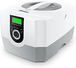 LifeBasis 超音波洗浄機 小型業務用 1秒間42,000Hz回振動数 1400ml超大容量 パワフル70W 超音波クリーナー 5段階タイマー設定可能 デジタルLED時間表示 観察ランプ付き アクセサリー リング メガネ 時計 歯 コイン 基板 Vape電子タバコ