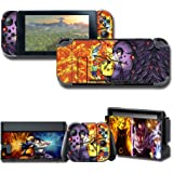 GilGames Vinyl Skin Decal Stickers for Nintendo Switch, Anime Protector Wrap Cover Protective Faceplate Full Set Console Joy-