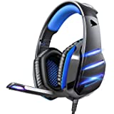 Gaming headset for PS4 Xbox one, Beexcellent Newest Deep Bass Stereo Sound Over Ear Headphone with Noise Isolation LED Light