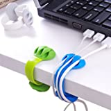 Cable Holder - Cord Organizer - Cable Management Clips - Wire Holder System -3 Packs Multipurpose Cable Clips for Phone Charg