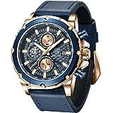 BENYAR - 男性のためのクロノグラフ腕時計、パーフェクトクォーツムーブメント、防水とスクラッチ耐性、アナログスタイリッシュなビジネスウォッチ、ベストメンズギフト