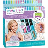 Make It Real - Paint and Sparkle Mermaid Nail Art. Mermaid Nail Polish, Sticker, and Decoration Kit for Girls. Includes Merm