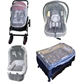 Enovoe Mosquito Net for Stroller - Durable Baby Stroller Mosquito Net - Perfect Bug Net for Strollers, Car Seats, Bassinets,