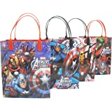 """Avengers Premium Quality Party Favor Goodie Medium Size 8"""" Gift Bags 12"""