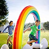71-inch Inflatable Rainbow Arch Sprinkler, Outdoor Lawn Activities, Inflatable Rainbow Sprinkler, Outdoor Summer Water Sprink
