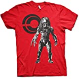 Predator Officially Licensed Standing Mens T-Shirt (Red)