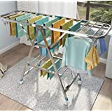 Clothes Rack Floor Folding Indoor Household Stainless Steel Cool Baby Clothes Rack Drying Rack Balcony Drying Quilt Artifact