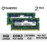 Timetec Hynix IC 8GB キット (2x4GB) ノートPC用メモリ DDR3 1333 MHz PC3 10600 1.5 v 204 Pin SODIMM 永久保証 (8 GB キット (2x4GB))