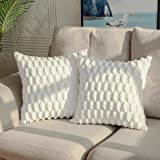 DEELAND Pack of 2 Decorative Throw Pillow Covers Embossed Soft Short Wool Velvet Plush Pillowcase Cushion Covers for Sofa Cou