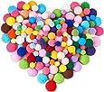 BENECREAT ポンポンボール 400個/箱 毛球 カラフルポンポン DIY手作り 手芸材料 飾り素材 丸い毛球