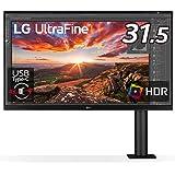 LG エルゴノミクス スタンド モニター ディスプレイ 32UN880-B 31.5インチ/4K/HDR/IPS非光沢/USB Type-C,HDMI×2、DP/FreeSync/スピーカー/チルト,スイベル,高さ調節,ピボット対応/フリッカーセーフ