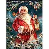 Eiflow 5D Christmas Diamond Painting Kits Full Drill Santa Claus,DIY Paint by Diamond Embroidery Art Craft Mosaic Making for