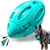 EASTBLUE Squeaky Dog Toys for Aggressive Chewers: Rubber Interactive Puppy Ball with Squeaker,Almost Indestructible Tough Dur