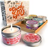 Bekind Good Vibes Scented Candles Set - Candles for Home, Aromatherapy - Natural Soy Wax and Essential Oils Fragrance - Gifts