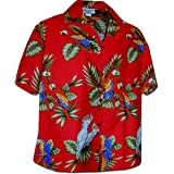 Pacific Legend Womens Parrots Hawaiian Shirt