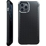 Nicexx Designed for iPhone 12 Pro Max Case with Carbon Fiber Pattern, 12ft. Drop Tested, Wireless Charging Compatible - Black