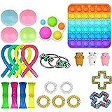 Cimaybeauty 25 Pcs Fidges Fidget Toy Set Cheap Sensory Fidget Toys Pack Autism Special Needs Stress Reliever gift Relieve the
