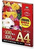 アスカ ラミネートフィルム A4サイズ F1026 静電防止 100枚入り 100μ