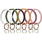 Mymazn Silicone Bangle Key Ring Bracelet Keychain for Women Wristlet Round O Keyring