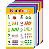 Educational Posters for Kids Preschool Kindergarten Nursery Homeschool Classroom Teach Numbers Time Days and More