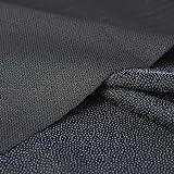 Black Iron-On Interfacing for Sewing: Light Weight Fusible Interfacing Iron On Polyester Single-Sided Interfacing for DIY Cra
