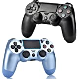 2 Pack Wireless Controllers for PS4, Wireless Remotes Control for Sony Playstation 4, YU33 PS4 Joystick Gamepad for Ps4 Contr